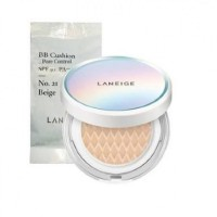 LANEIGE BB Cushion Pore Control SPF 50+ PA+++ No. 21 BEIGE Full Set + Refill