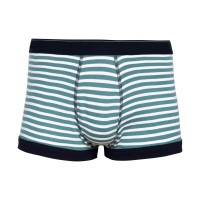 Celana Dalam Boxer Export Quality Motif Garis Green White - 1 pcs