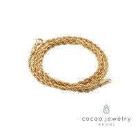 cocoa jewelry Kalung Wanita Korea - Chain Gold Color