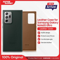 Samsung Leather Cover Casing Galaxy Note 20 Ultra - Original