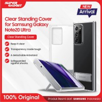 Samsung Clear Standing Cover Casing Galaxy Note 20 Ultra - Original