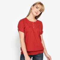 Mobile Power Ladies Basic Blouse - Terracota I8367
