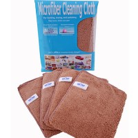 Lap Microfiber Dusting Cloth Coklat