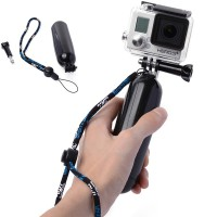 Tongsis Air Floaty Floating Hand Grip Handle Mount, Screw For Gopro Hero 2 3 3+ 4 (Black) -OS099