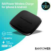 RAVPower RP-PC066 10W Fast Wireless Charger 7.5W Iphone 10W Android - EU Black