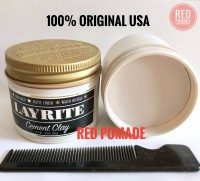 POMADE LAYRITE CEMENT [ CLAY ] 4 OZ+ FREE SISIR