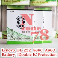 Baterai Lenovo S660 Bl222 Bl-222 Double Ic Protection