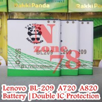 Baterai Lenovo A516 A820 A706 BL209 Double IC Protection