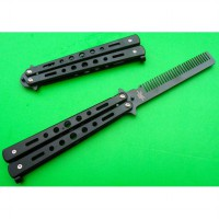 BENCHMADE BALISONG COMB / BUTTERFLY COMB / SISIR POMADE [BLACK / SILVER]