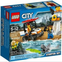LEGO City 60163 - Coast Guard Starter Set ATV Lifeguard Surfer Shark Toy