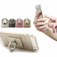 Iring Handphone Holder Stand Free Hook Pegangan Hp Samsung Iphone Android Xiaomi Dll