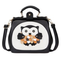 KGS Tas Casual Wanita Little Owl Frame Mini Shoulder Bag Hitam