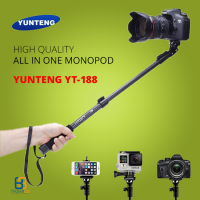 YunTeng YT-188 Selfie Stick Monopod Tongsis with Holder - Hitam