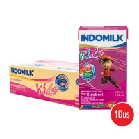 Indomilk Kids Susu UHT Rasa Strawberry - 115ml isi 40pcs (1 Dus/Box/Karton)