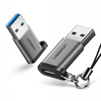 Ugreen Type-C to USB 3.0 Adapter Support OTG with keychain (50533) - Silver