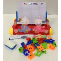 Mainan Anak Edukasi Magnetic Learning Case Drawing Board