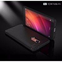 Case XIAOMI REDMI NOTE 4X / NOTE 4 Softcase TPU Brushed Armor Shockproof - Black