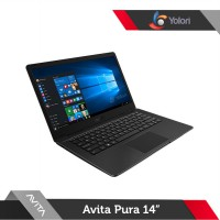 Avita Pura 14 [R3-3200U, 8GB, 256GB, AMD Vega 3, Windows 10, Metallic Black]