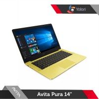 Avita Pura 14 [R5-3500U, 8GB, 512GB, AMD Vega 8, Windows 10, Shiny Yellow]