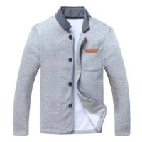 Jaket Blazer Pria Casual Fleece Abu Abu-Sweater Jas Casual-DRB SWEAT SHIRT LIGHT GREY