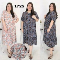 BAJU BIGSIZE MURAH - DRESS ADIRA JUMBO (1725-DS)