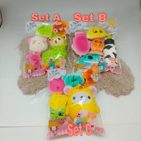 Paket Soft Slow Squishy Murah isi 5 Ada Packaging