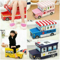 Kotak Mainan Bus Toy Box Storage Kid Box  Game Anak Unik