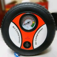 Pompa Ban Model Roda Air Pump Air Compressor Portable Colokan Motor