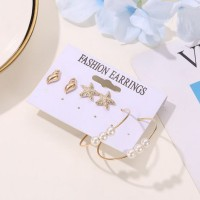 Oila anting set 3 pasang star fish conch set earrings(3D2) jan212