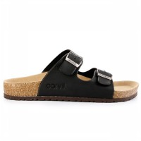 Carvil Sandal Footbed Man Jaden-02 Black