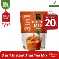 Ranong Tea 3 In 1 Instant Thai Tea Mix - 10 Sachets/Lemon Lime Thai Tea Mix - 10 Sachets/Matcha Green Tea Latte - 8 Sachets
