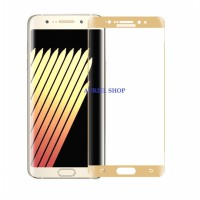 Tempered Glass Samsung Galaxy Note 7 List crome Gold Full Layar (Clear) Screen Protector