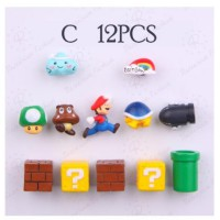 12pcs Super Mario Fridge Magnets Creative Mini Game Figures Magnet Home Decor Birthday Gift