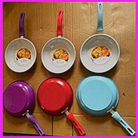 Frying Pan 1 Set isi 2 pcs Teflon Masak Wajan Goreng Polos Fry Pan Set Warna