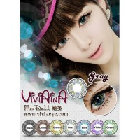 New Original Softlens Viviaina Mondoll Grey Abu - Abu -Original 100%-Terlaris