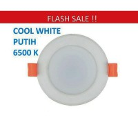 Lampu Downlight LED Panel Lamp 3W PUTIH 3 w watt 3watt COOL WHITE Down Light