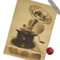 harga [globalbuy] Old gramophone record player bookstore teahouse decoration placard poster retr/3185622 elevenia.co.id