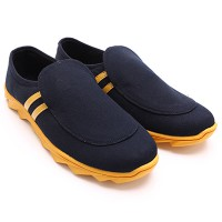 Dr.Kevin Mens Casual Shoes - 13270 Black/Yellow