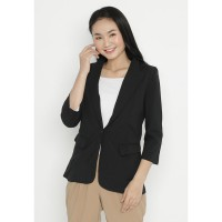 Mobile Power Ladies Black Pocket Blazzer - Black OK50012