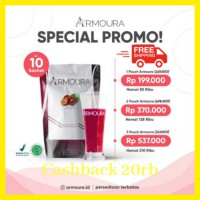 ARMOURA pouch 10 SACHET original BPOM sliming skin care glowing