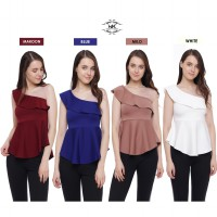 New Collection / Spring Collection / Atasan Wanita / Woman One Shoulder Top / High Quality