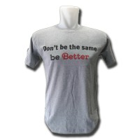 Distro Quality & Size MCD Grey Model Don't Be the Same (be Better) (Cotton Combed 24S)