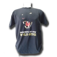 Distro Quality & Size MCD Black Model Beware of My Wildside (Cotton Combed 24S)