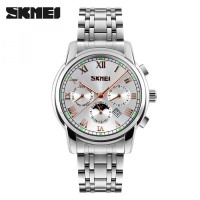 SKMEI Casual Men Stainless Strap Watch Water Resistant 30m - 9121CS