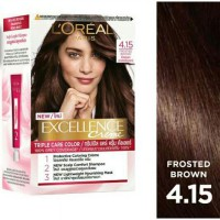 LOREAL Excellence Hair Color Creme 4.15 Frosted Brown