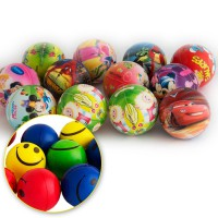BOLA BUSA KARAKTER / SMILE - 3 PCS - SPONGE BALL - BEST BUY