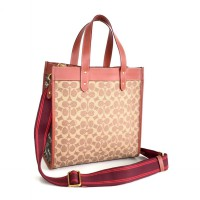 CH Field Tote In Signature Canvas With Horse and Carriage Print