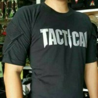 kaos tactical army hitam