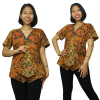 Glow Fashion Valisa Baju Atasan Blouse Kemaja Batik Wanita ALL SIZE FIT TO L