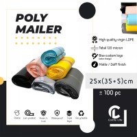 Polymailer Pink/Blue/Yellow 25 X 35 Cm Polybag Kantong Amplop Plastik Packing Isi 100 - New Material
